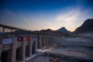 Xayaburi Baustelle 2015 (c) International Rivers
